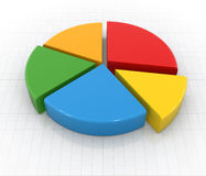 Colorful pie chart Stock Image