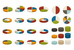 Colorful pie charts Stock Images