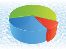 Colorful pie graph. Vector illustration of colorful pie graph Stock Image