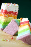 Colorful pieces of cake Royalty Free Stock Image