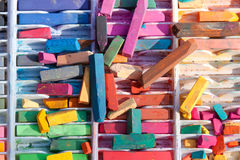 Colorful Pieces Of Chalk Are Used For Street Art Royalty Free Stock Photo