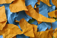 Colorful pieces of paper stock image