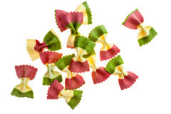 Colorful pieces of tasty pasta. Stock Image