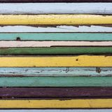 Colorful pieces of wood Royalty Free Stock Photos