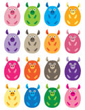 Colorful Pig Bellies. Sixteen round and colorful pigs Stock Photography