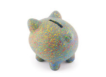 Colorful piggy bank with clipping path Stock Image