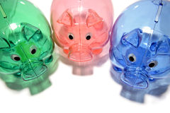 Colorful Piggy Banks Royalty Free Stock Photos