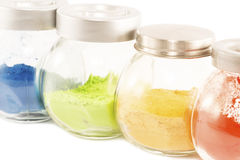 Colorful pigments Stock Photos