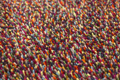 Colorful Pile Carpet Stock Images