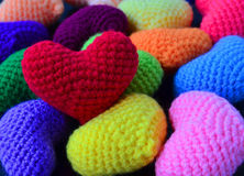 Colorful Pile Heart Stock Images