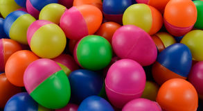 Colorful of pile plastic eggs Royalty Free Stock Images
