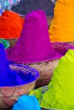 Colorful piles of powdered dyes Royalty Free Stock Photo