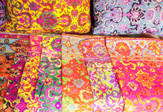 Colorful pillowcase Stock Photo