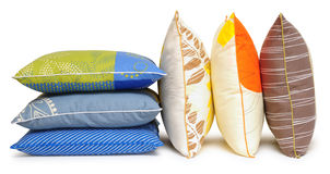 Colorful pillows. Isolated Stock Photography