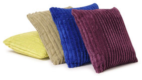 Colorful pillows. Isolated Royalty Free Stock Image