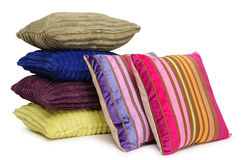 Colorful pillows. Isolated stock image