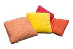 Colorful pillows isolated on white Royalty Free Stock Images
