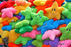 Colorful pillows for kids. Colorful star-shaped pillows for kids. Mexico Stock Image