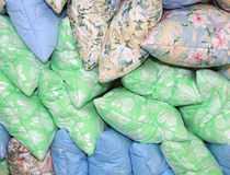 Colorful pillows, a lot of Stock Image