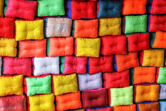 Colorful pillows pattern Royalty Free Stock Photography
