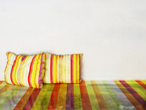 Colorful  pillows in the  room Stock Photos