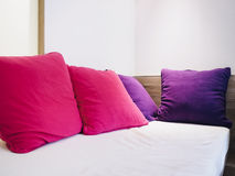 Colorful Pillows on Sofa in Living room Royalty Free Stock Photos