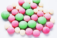 Colorful pills. A lot of colorful pills royalty free stock photos