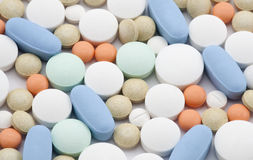 Colorful pills Royalty Free Stock Images
