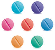 Colorful pills Stock Photography