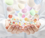 Colorful pills Stock Image