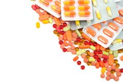 Colorful Pills Royalty Free Stock Photos