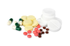 Colorful pills Stock Photos