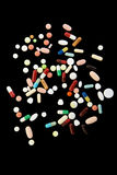 Colorful pills from above Stock Image