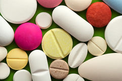 Colorful pills background Royalty Free Stock Photo