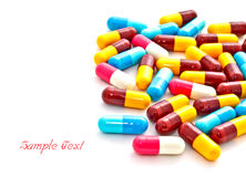 Colorful pills capsule Stock Photos