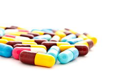Colorful pills capsule Stock Photography