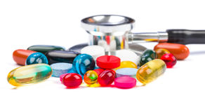 Colorful pills Stock Images