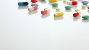 Colorful pills stock video