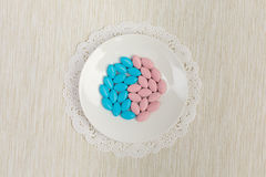 Colorful Pills on a saucer Royalty Free Stock Photos