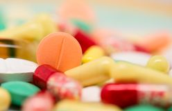 Colorful pills Royalty Free Stock Image