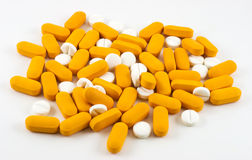 Colorful Pills and tablets Stock Photos