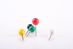 Colorful pin Royalty Free Stock Images