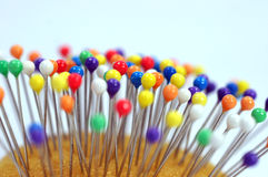 Colorful pin heads Stock Photos