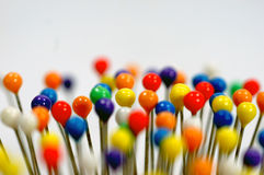 Colorful pin heads Royalty Free Stock Photography