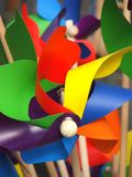 Colorful pin-wheels Royalty Free Stock Photo