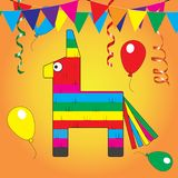 Colorful pinata. Mexcian traditional birthday toy royalty free illustration