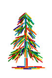 Colorful pine tree royalty free stock image