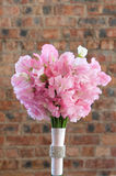 A colorful pink bridal bouquet Stock Photo