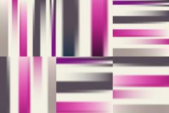 Colorful pink brown striped gradient backgrounds set. Stock Photos
