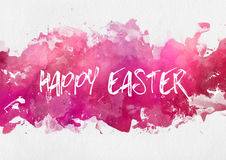 Colorful pink Happy Easter design template Royalty Free Stock Image